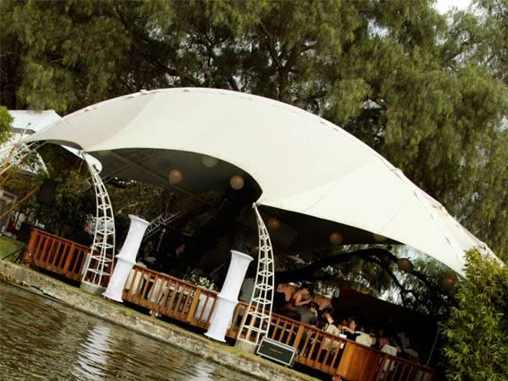 jardines con lago para eventos en puebla